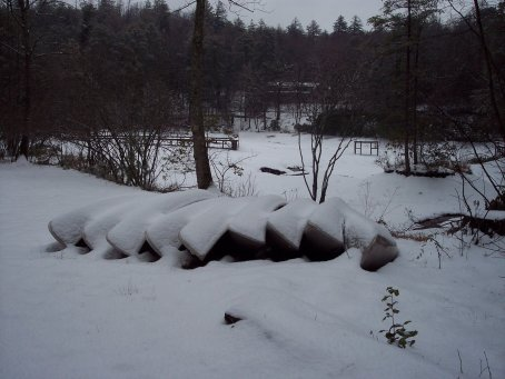 Camp Dixie Canoes in the Snow